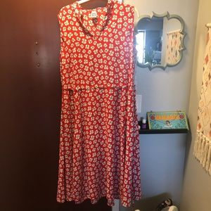 Anne Klein 2x flowy poppy summer dress